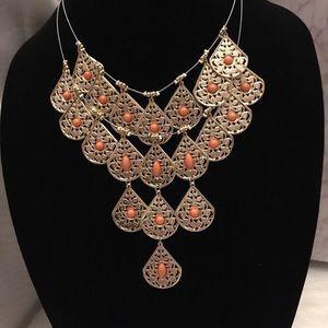Anna & Ava Gold & Peach Layered Necklace
